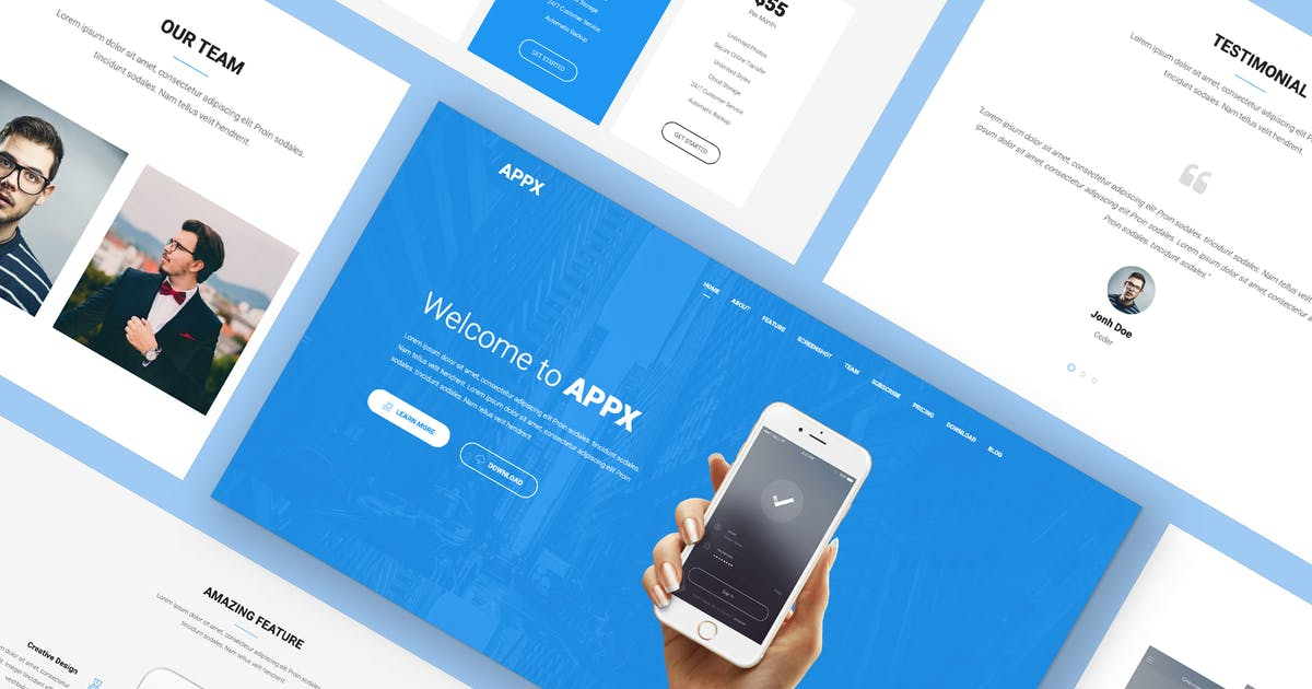 Download Appx - Mobile App Showcase by Ninetheme