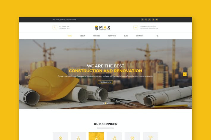 Thumbnail for Construction PSD Template
