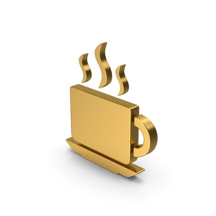 Symbol Coffee Cup Gold
