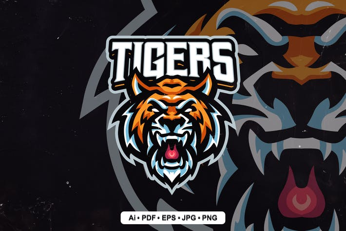 Thumbnail for Tigers Logo template for eSport and Sport
