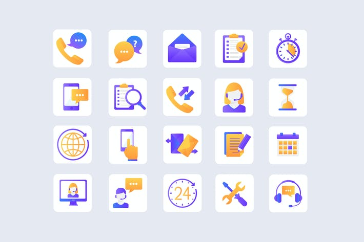 Cover Image For Customer Service Bright Icons