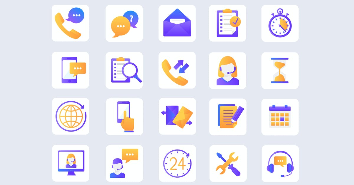 Download Customer Service Bright Icons by Unknow