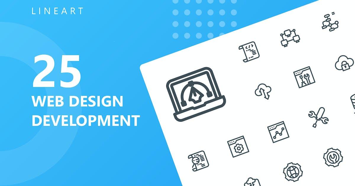 Download Web Design Development Line Icons by kerismaker