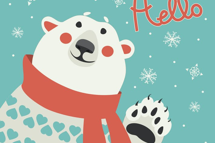 Thumbnail for Polar bear says hello