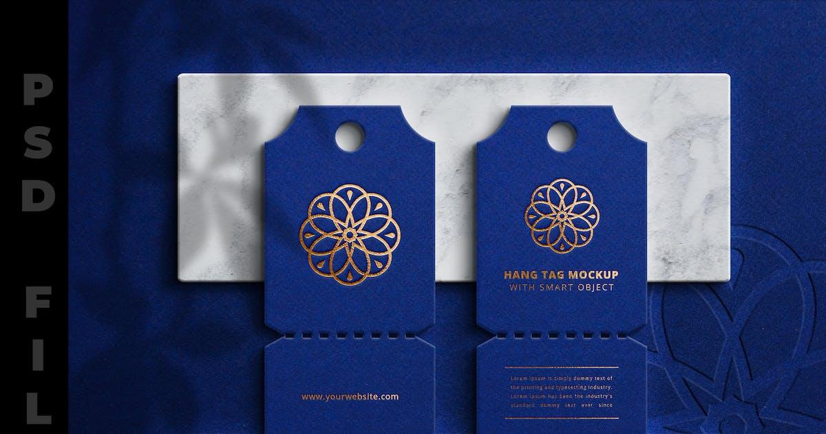 Download Blue Luxury Hangtag Mockup by modaldesain
