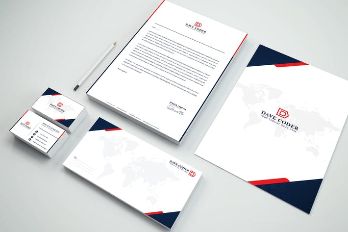 Thumbnail for Technology Branding Identity & Stationery Pack