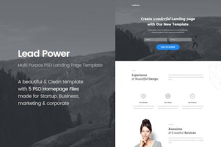 LeadPower - Multi Purpose PSD Landing Pag Template