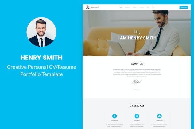 Henry Smith - Personal CV/Resume Portfolio
