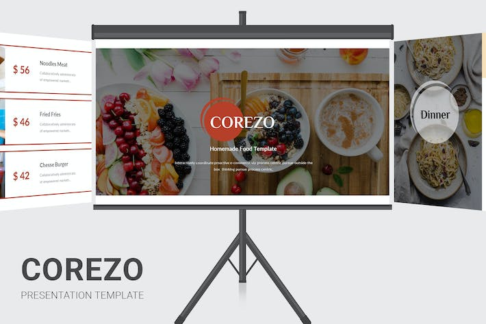 Corezo - Homemade Food Services Powerpoint