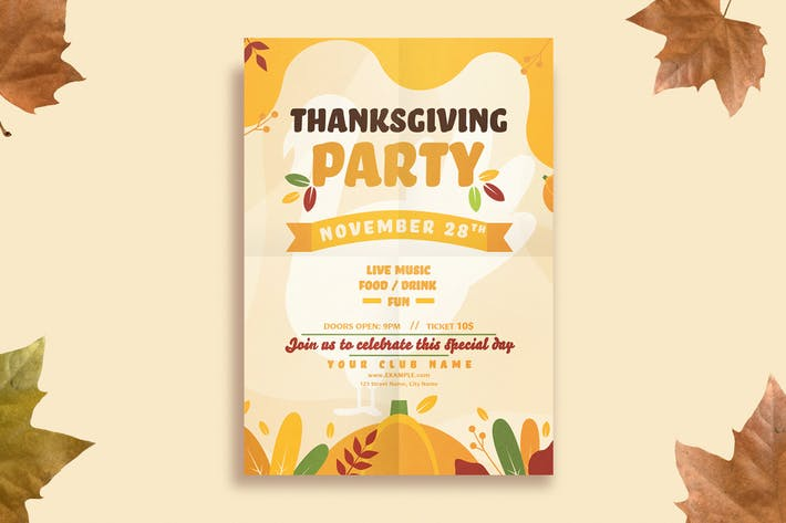 Thumbnail for Thanksgiving Flyer Template