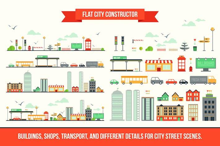 Thumbnail for Constructeur de ville plate