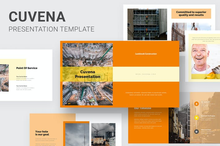 Thumbnail for Cuvena - Construction & Engineering Powerpoint