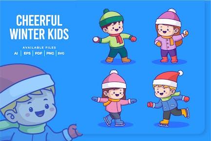 Cheerful Winter Kids