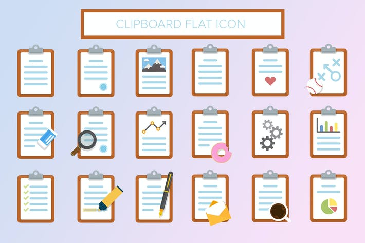 Thumbnail for Clipboard Flat Icon