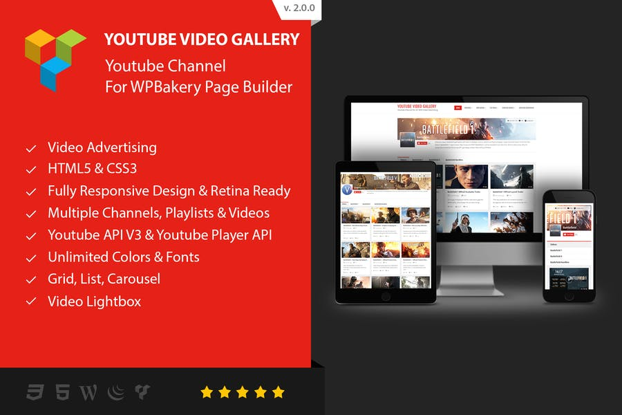 Youtube Gallery - Addon For WPBakery Page Builder