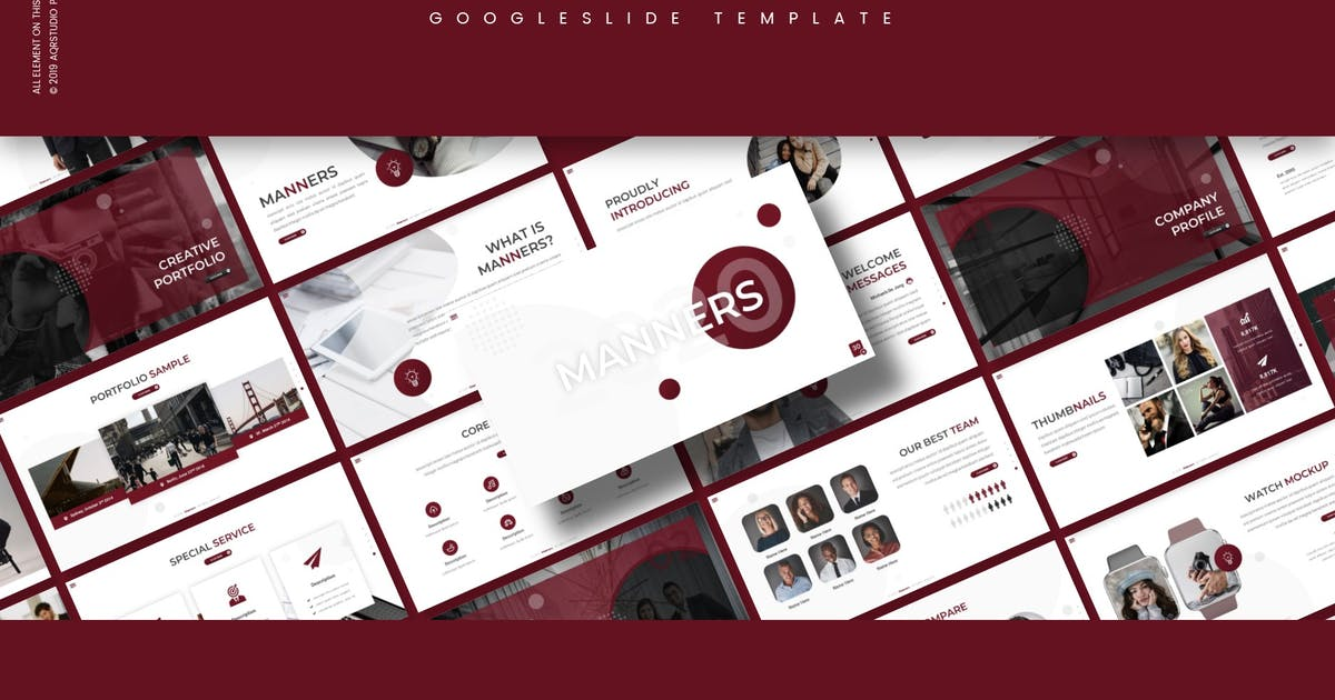 Download Manners - Google Slide Template by aqrstudio