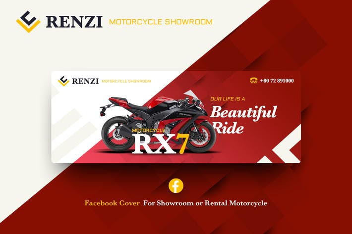 Thumbnail for Renzi-Facebook Cover Template