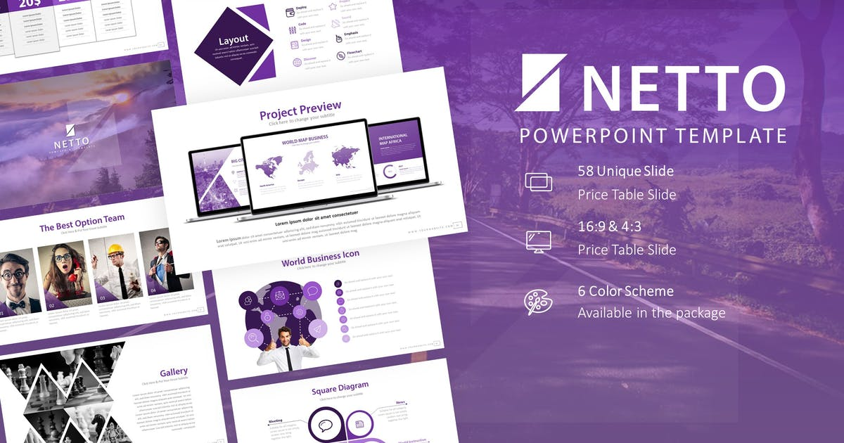 Download Netto Presentation Powerpoint Template by RRgraph