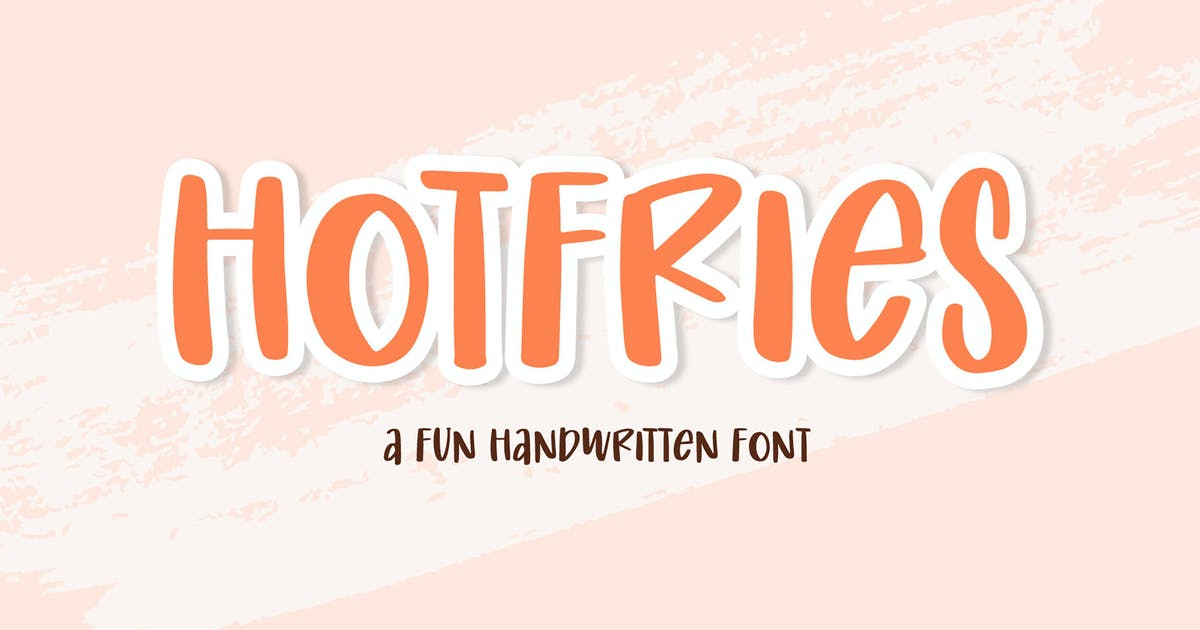 Download Hotfries - a Fun Handwritten Font by axelartstudio