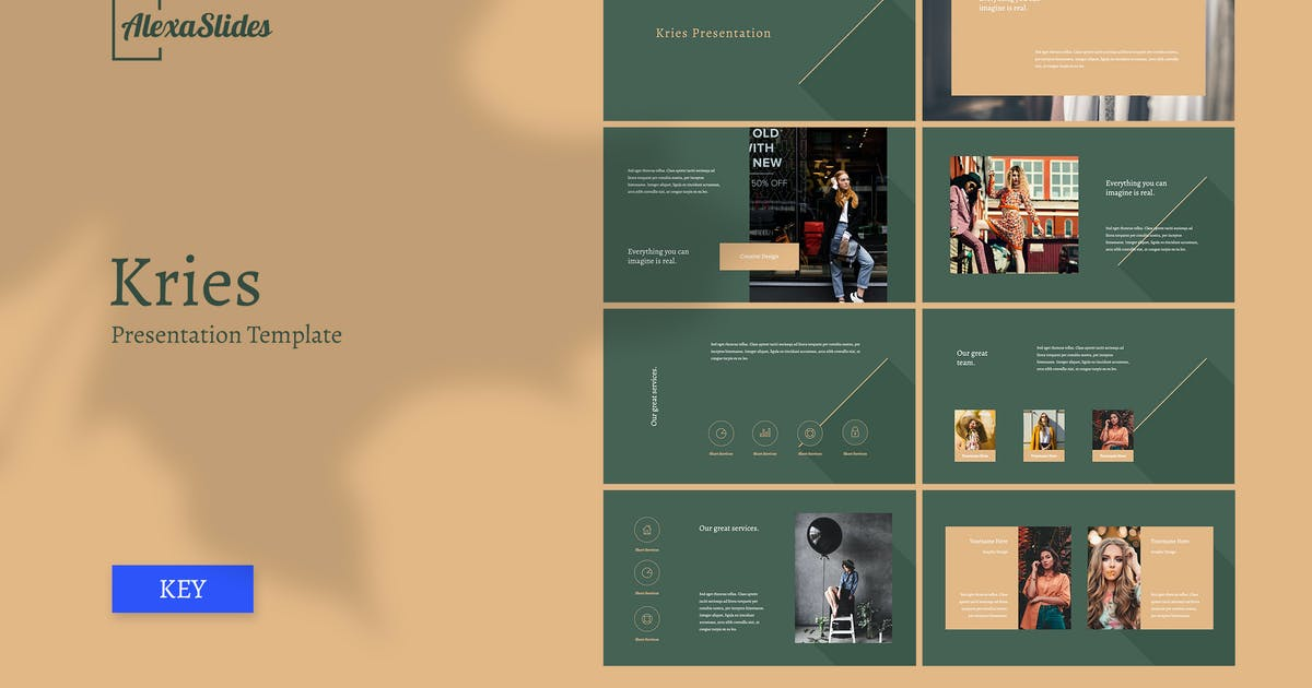 Download Kries - Fashion Keynote Template by alexacrib
