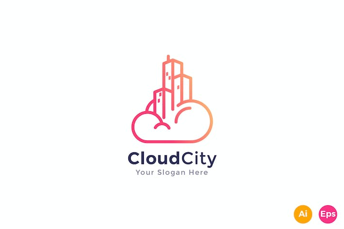Thumbnail for Cloud City Logo Template