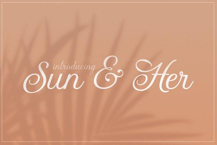 Thumbnail for Sun & Her Font