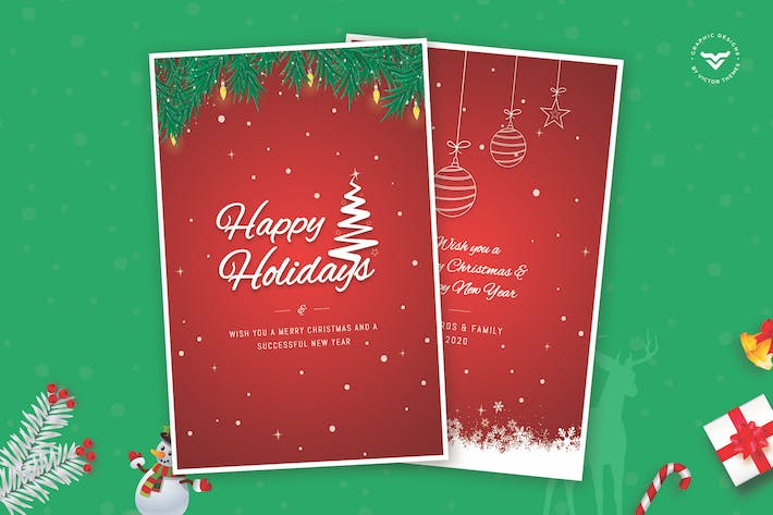Cover Image For Happy Holidays Greeting Card