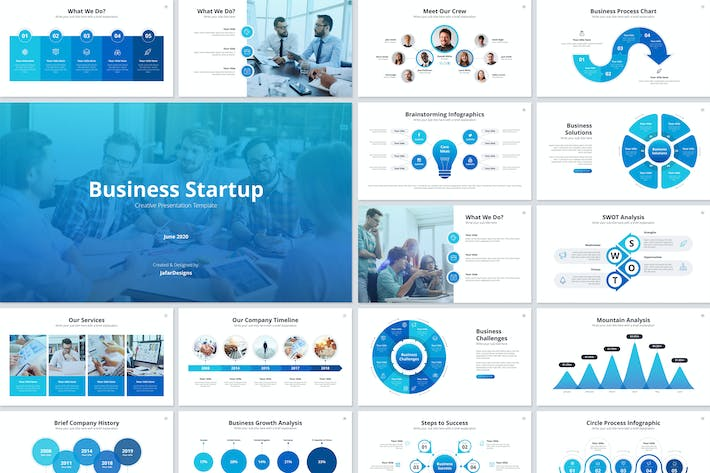 Cover Image For Business Startup Google Slides Template