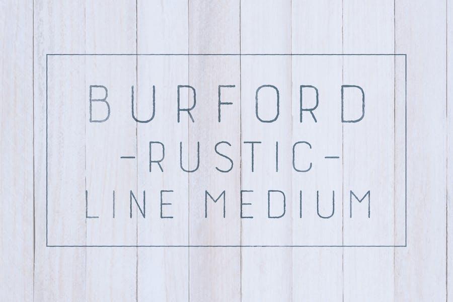 Burford Rustic Line Medium