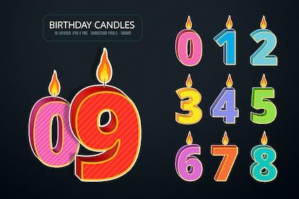 Geburtstagskerze Zahlen