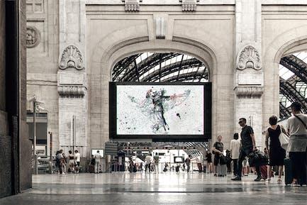 Train Station Poster Mock-up