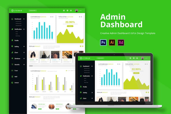 Thumbnail for Alterah Admin Page Template