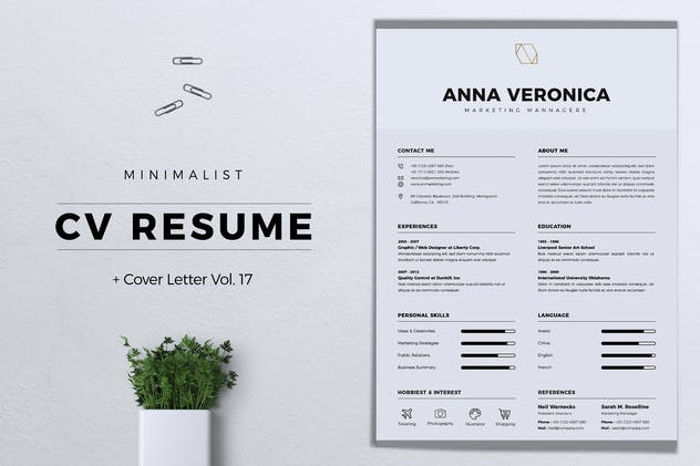 Minimalist CV Resume Vol. 17