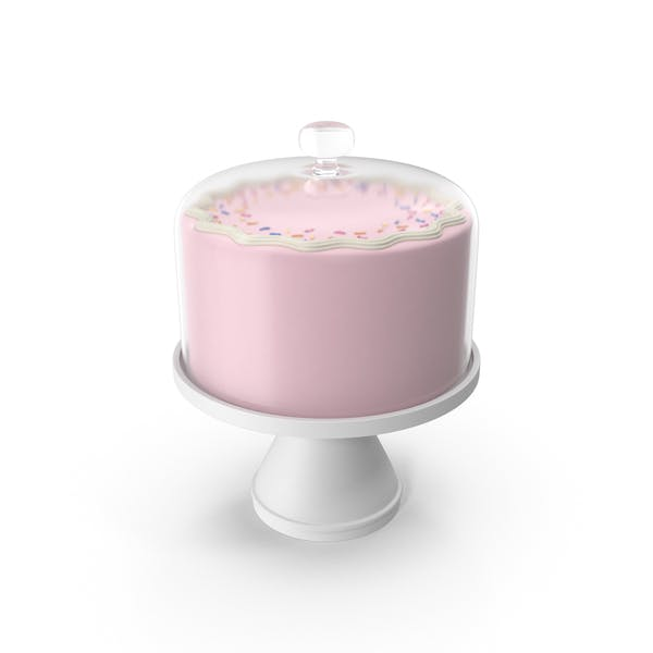 Thumbnail for Pink Cake with Glass Dome
