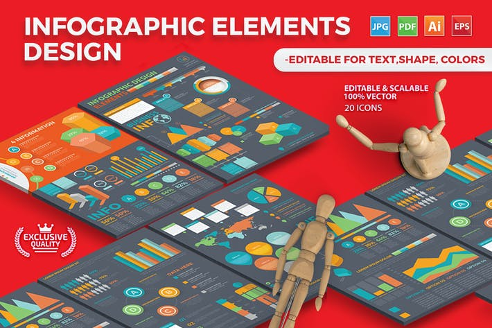 Cover Image For Infographic Template Design