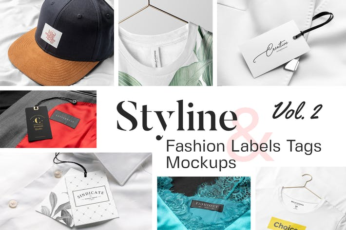 Thumbnail for Styline - Apparel Labels and Tags Mockups Vol 2