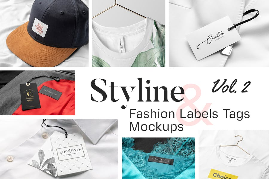 Styline - Apparel Labels and Tags Mockups Vol 2