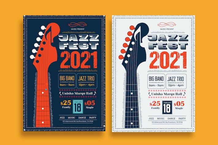 Thumbnail for Jazz Festival Flyer Template