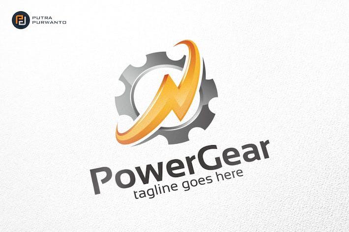 Thumbnail for Power Gear - Logo Template