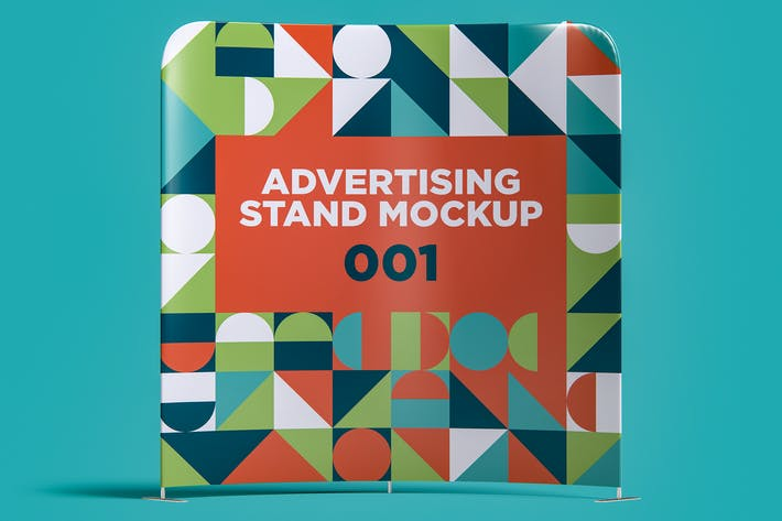 Thumbnail for Advertising Stand Mockup 001