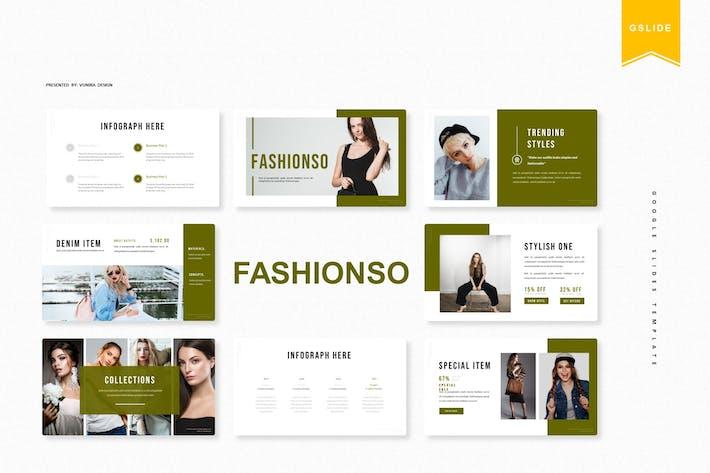 Thumbnail for Fashionso | Шаблон слайдов Google