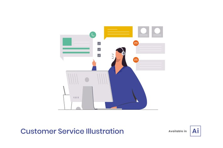 Thumbnail for Customer Service Illustration