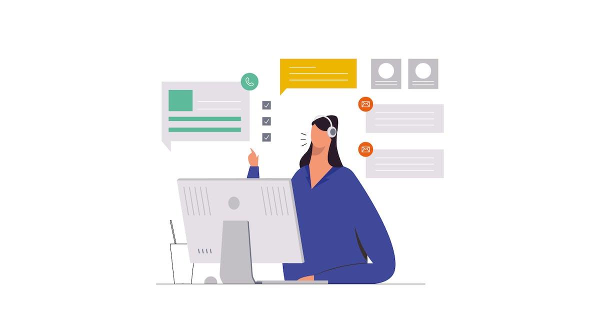 Download Customer Service Illustration by visuelcolonie