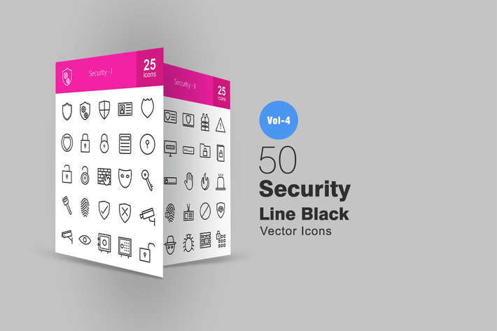 Thumbnail for 50 Security Line Icons