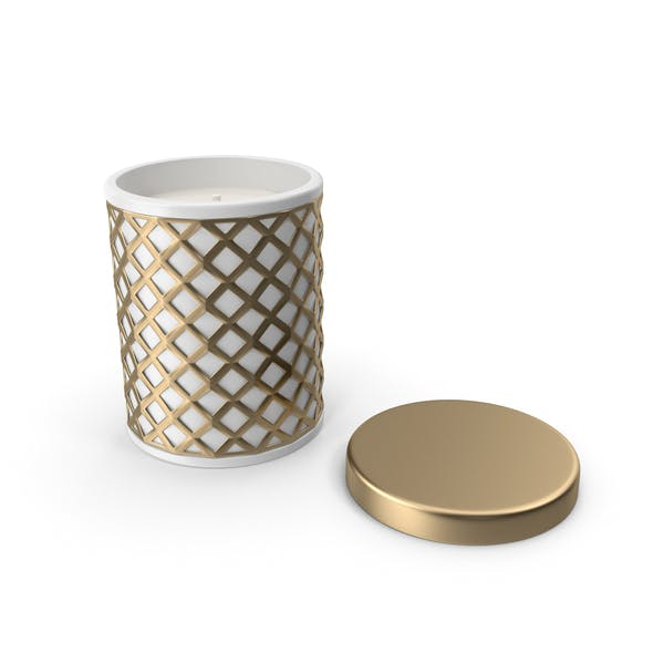 Gold Holiday Candle with Cap