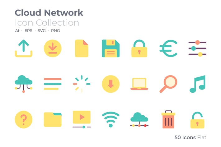 Cloud Network Color Icon
