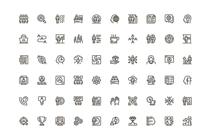 Thumbnail for Business People Unique Web Line Icons Pack