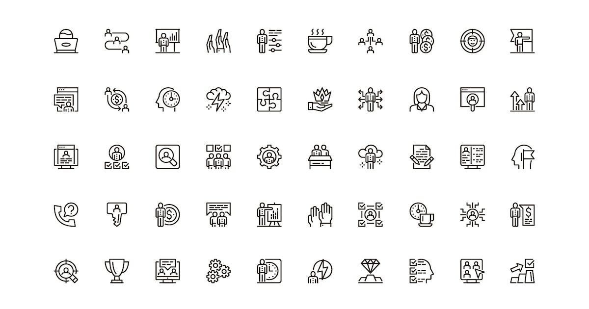 Download Business People Unique Web Line Icons Pack by alexdndz