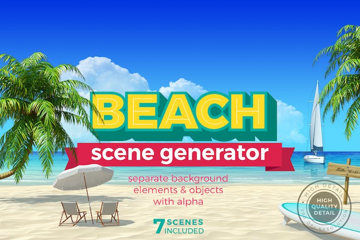 Thumbnail for Beach Scene Generator