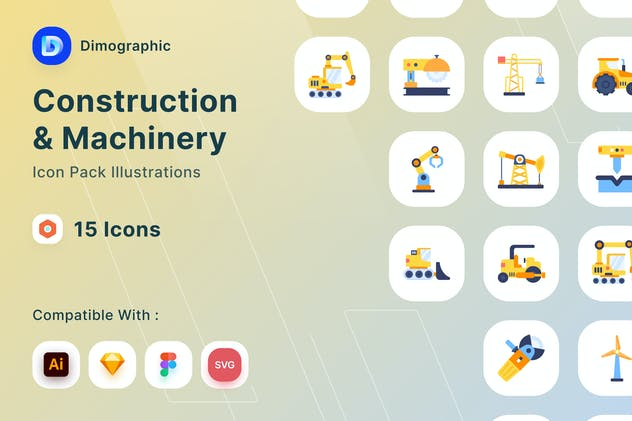 Construction and Machinery Icon Pack